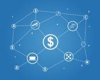 Bitcoin vector illustration background. Design collection stock Stock Photos