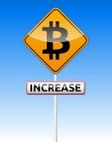 Bitcoin-Verkehrsbrett Lizenzfreies Stockfoto