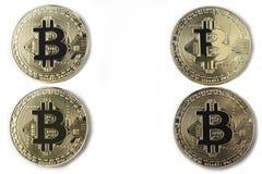 Bitcoin vier op een witte achtergrond Royalty-vrije Stock Foto