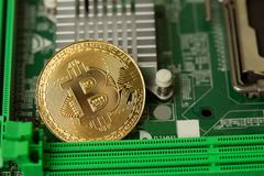 Bitcoin Virtual Cryptopayment Web Render Sign stock image
