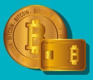 Bitcoin virtual money Stock Photo