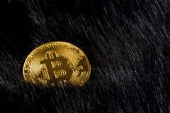 Bitcoin virtuale dei soldi Immagini Stock
