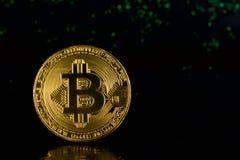 Bitcoin virtuale dei soldi Fotografie Stock Libere da Diritti