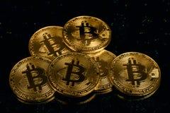 Bitcoin virtuale dei soldi Immagini Stock Libere da Diritti