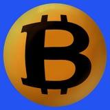 Bitcoin, virtuele munt vector illustratie