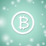 Bitcoin vitsymbol Bitmyntbanksystem Crypto valutateknologi Royaltyfri Fotografi