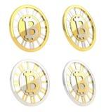 Bitcoin waluty crypto moneta odizolowywająca Zdjęcie Stock