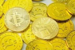 Bitcoin waluty elektronicznego pieniądze wizerunku crypto zbliżenie fotografia stock