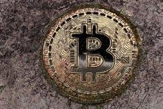 Bitcoin-Wasserfarbe Lizenzfreie Stockfotos
