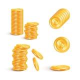 Bitcoin wektorowa ikona odizolowywająca na lekkim tle Zdjęcia Royalty Free