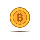 Bitcoin wektorowa ikona odizolowywająca na lekkim tle Zdjęcia Stock