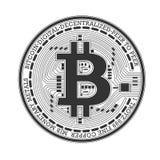 Bitcoin wektoru logo Fotografia Royalty Free