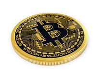Bitcoin on white background Stock Image