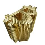 The gold pile is symbolic. Royalty Free Stock Photos