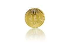 Bitcoin  on white background Royalty Free Stock Images