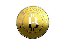 Bitcoin on white Stock Photography