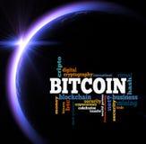 Bitcoin word cloud Royalty Free Stock Photos