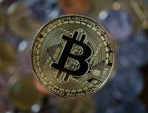 Bitcoin złocista moneta Cryptocurrency pojęcie Zdjęcie Royalty Free