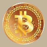 Bitcoin złoty Obrazy Royalty Free
