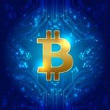 Bitcoin zawody międzynarodowi pieniądze wektor ilustracji
