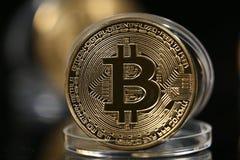 Bitcoin in zijn geval stock foto's