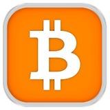 Bitcoin znak Obraz Stock