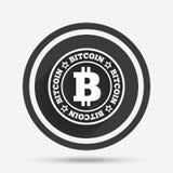 Bitcoin znaka ikona Kryptografii waluty symbol Obrazy Royalty Free