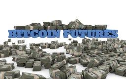 Bitcoin-Zukunft-Währungsspekulation Stockfoto