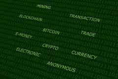 Bitcoin-Zusammenfassungshintergrund Stockfoto