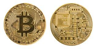 Bitcoinconcept - gouden muntstuk Royalty-vrije Stock Afbeelding