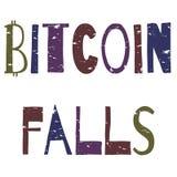 Bitcoindalingen - grunge inschrijving royalty-vrije illustratie