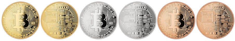Bitcoininzameling royalty-vrije stock foto