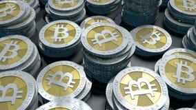 Bitcoinlijn royalty-vrije illustratie