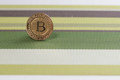 Bitcoinmuntstuk Royalty-vrije Stock Foto's