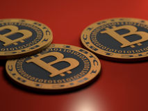 Bitcoinmuntstukken Stock Fotografie