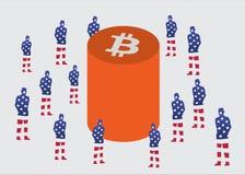 Bitcoinnieuwsgierigheid Royalty-vrije Stock Foto's