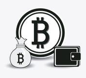 Bitcoinontwerp, vectorillustratie Stock Afbeeldingen
