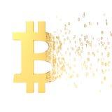 Bitcoinoverdracht stock illustratie