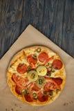 Bitcoinpizza Dag 22 Mei Cryptocommunityvakantie concept het kopen van pizza met bitcoin royalty-vrije stock afbeeldingen