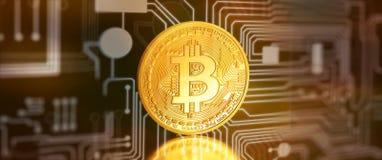 Bitcoins,位硬币BTC新的真正金钱 库存照片