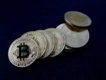 Bitcoins - νομίσματα του cryptocurrency Στοκ Εικόνα