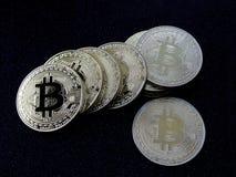 Bitcoins - νομίσματα του cryptocurrency Στοκ Εικόνες