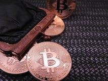 Bitcoins и портмоне Стоковое Фото