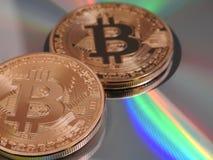 Bitcoins и цвета Стоковое Фото