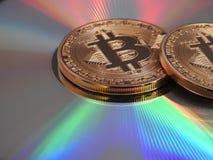 Bitcoins и цвета Стоковые Изображения RF