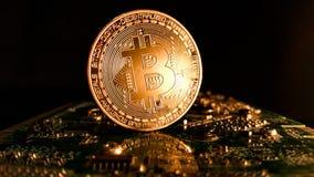 Bitcoins - новая современная валюта для оплат bitcoin Стоковое Фото