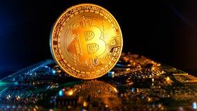 Bitcoins - новая современная валюта для оплат bitcoin Стоковое Изображение RF