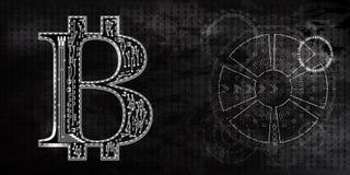 Bitcoins радиолокатор стоковая фотография rf