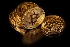 Bitcoins Stockfoto