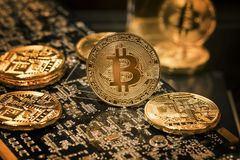 Bitcoins image stock